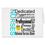 Collage del reconocimiento de las enfermeras - el  tarjetón
