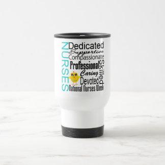 Collage del reconocimiento de las enfermeras - el  tazas