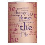 Collage del rezo de la serenidad tarjeta de felicitación