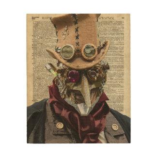 Collage del robot de Steampunk sobre la página Cuadros De Madera