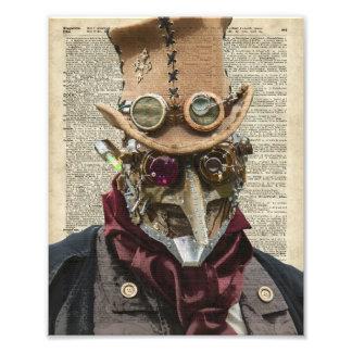 Collage del robot de Steampunk sobre la página Fotografías