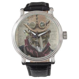 Collage del robot de Steampunk sobre la página Relojes De Pulsera