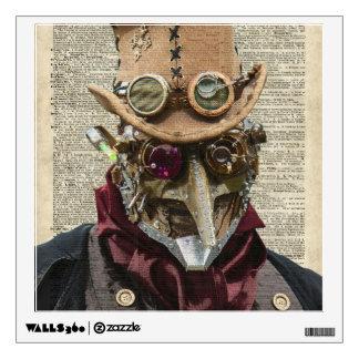 Collage del robot de Steampunk sobre la página Vinilo