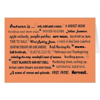 collage del saludo del otoño tarjeta