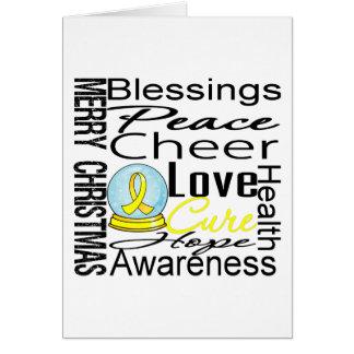 Collage del sarcoma del día de fiesta del navidad tarjeta de felicitación