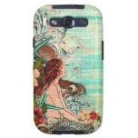 Collage del Seashell de la sirena de la caja de la Samsung Galaxy S3 Cárcasa