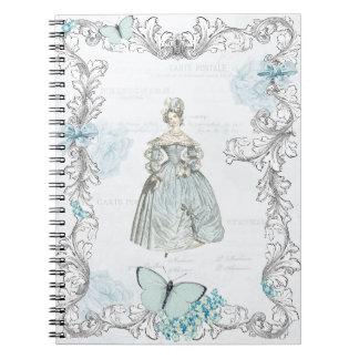 Collage del siglo XIX del vintage del cuaderno de