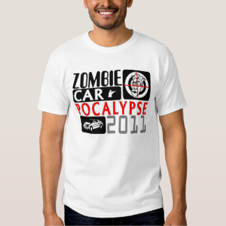 Collage del símbolo de Carpocalypse del zombi Polera