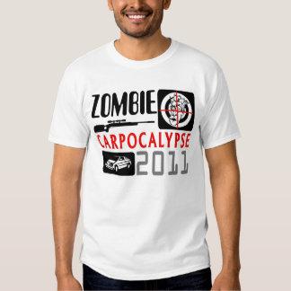 Collage del símbolo de Carpocalypse del zombi Remera