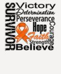 Collage del superviviente de la leucemia camisetas