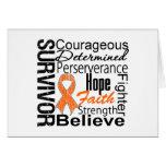 Collage del superviviente de la leucemia felicitación