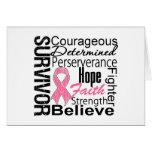Collage del superviviente del cáncer de pecho felicitación