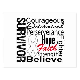 Collage del superviviente del cáncer de pulmón postal