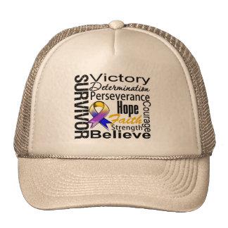 Collage del superviviente del cáncer de vejiga gorras de camionero
