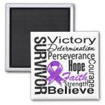 Collage del superviviente del cáncer pancreático imán de nevera