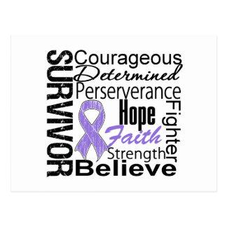 Collage del superviviente del linfoma de Hodgkins Postal