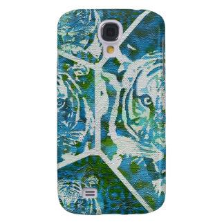 Collage del tigre del verde azul funda para galaxy s4