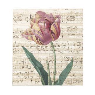 Collage del tulipán bloc de notas