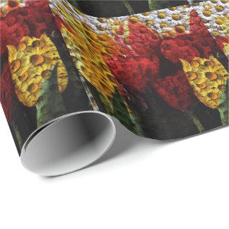 Collage del tulipán de la margarita papel de regalo