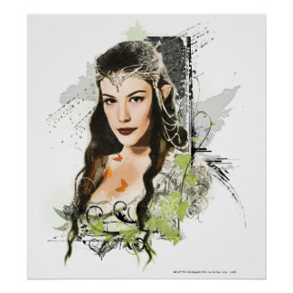 Collage del vector de Arwen Poster