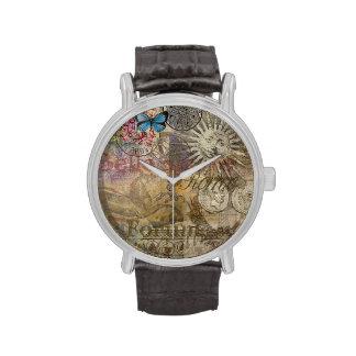 Collage del viaje de Italia del vintage de Roma Reloj De Mano