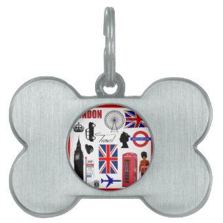 Collage del viaje de Londres Placa Mascota