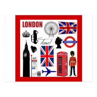 Collage del viaje de Londres Tarjetas Postales
