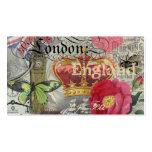 Collage del viaje del vintage de Londres Inglaterr Plantilla De Tarjeta Personal