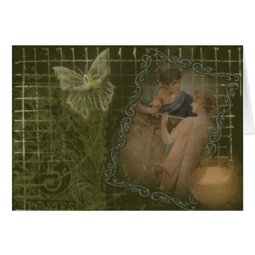 Collage del Victorian Tarjeta De Felicitación