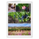 Collage del viñedo de California Tarjetas