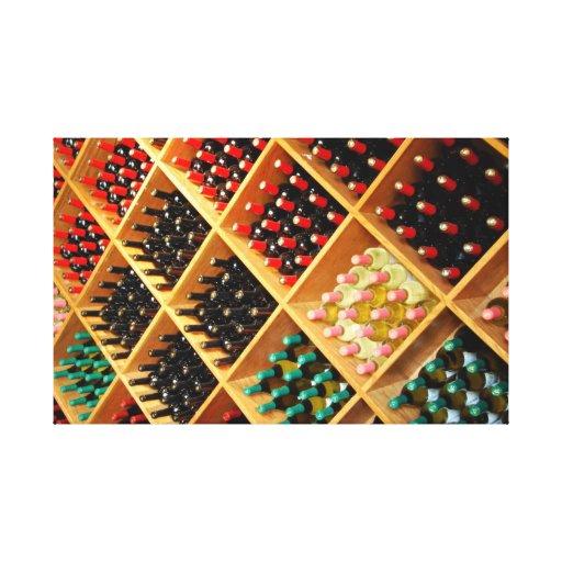 Collage del vino impresion de lienzo