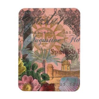 Collage del vintage de St Augustine la Florida Imanes Rectangulares