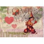 Collage del vintage del corazón del amor