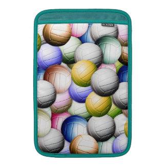 Collage del voleibol fundas macbook air