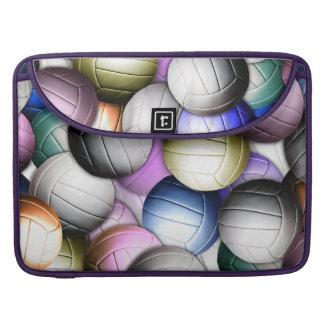 Collage del voleibol funda para macbooks