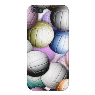 Collage del voleibol iPhone 5 carcasas