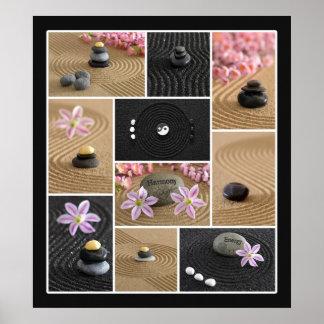 Collage del zen (w/border) poster