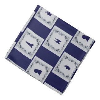 Collage Delft blue tiles Bandana