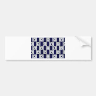 Collage Delft blue tiles Bumper Sticker
