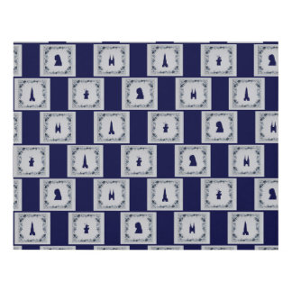 Collage Delft blue tiles Panel Wall Art