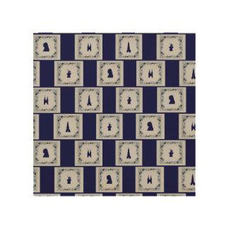 Collage Delft blue tiles Wood Print