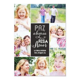 Collage desea día de tarjeta con foto card