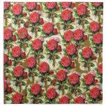 Collage elegante bonito del papel pintado del rosa servilletas