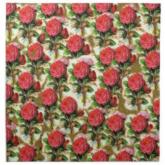 Collage elegante bonito del papel pintado del rosa servilleta de papel
