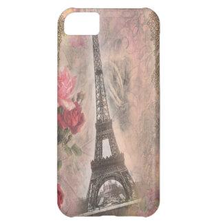 Collage elegante lamentable de los rosas del rosa  funda para iPhone 5C