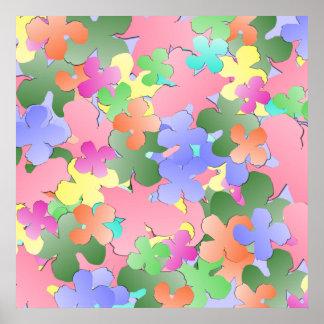 Collage en colores pastel de la flor