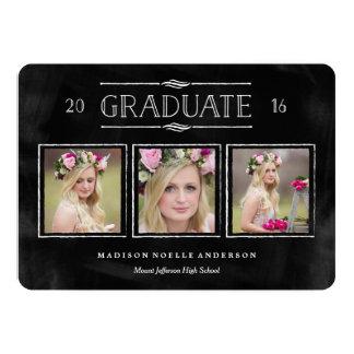 Collage en la invitación de la graduación de la