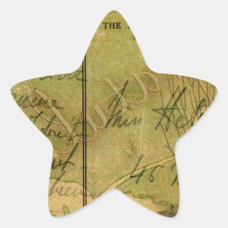 Collage encantado del flamenco pegatina en forma de estrella