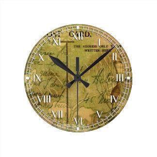 Collage encantado del flamenco reloj redondo mediano