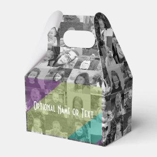 Collage enrrollado de la foto - añada para arriba cajas para regalos de boda